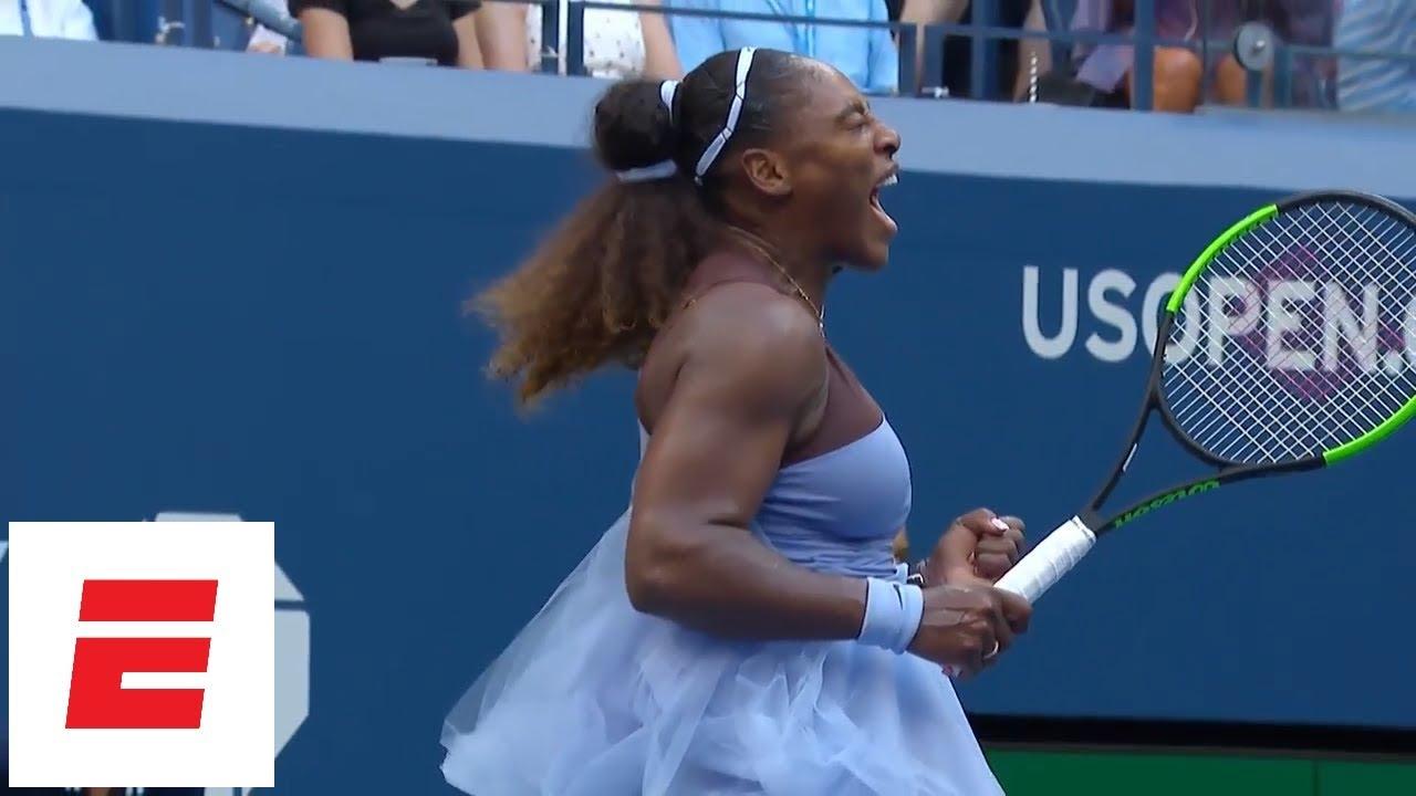 2018 US Open highlights: Serena Williams needs third set but advances to quarterfinals | ESPN