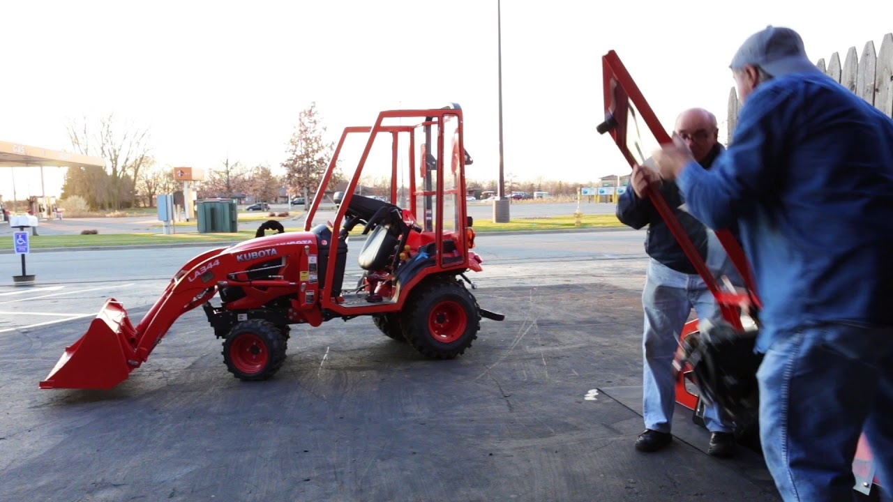 Kubota Tractor BX2380 Cab Enclosure Install - Under 10 Minutes! by ATV CABS  LLC