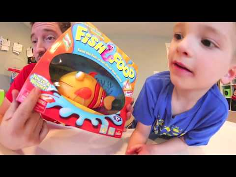 Father & Son PLAY FISH FOOD! / Feed Him Worms!!!??