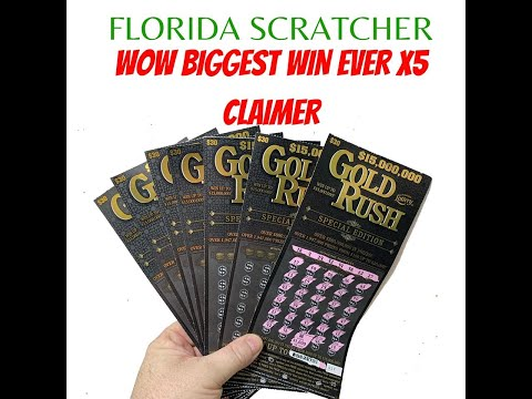 Florida Lottery Scratch Off Tickets | OMG My Biggest Win Ever | Claimer | 5x Symbol