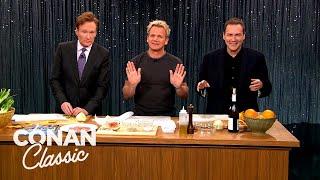 Conan \u0026 Norm Macdonald Cook With Gordon Ramsay   Late Night with Conan O'Brien