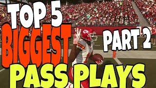 HOME RUN TD'S ALL GAME! TOP 5 PASS PLAYS IN MADDEN 19 PART 2! BEST MONEY PLAY OFFENSE TIPS & TRICKS