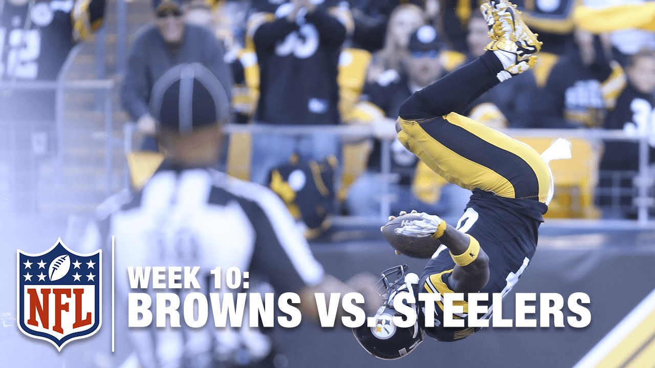Antonio Brown's Amazing Front-Flip After a 56-Yard TD Catch! | Browns vs. Steelers | NFL