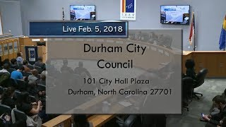 Durham City Council Feb. 5, 2018