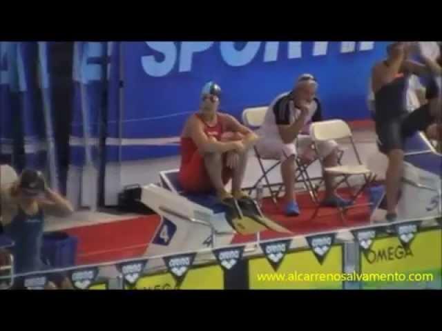 María Luengas campeona 100 aletas Arena Rescue 2014