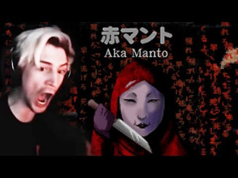 JAPANESE HORROR GAME! - xQc Plays Aka Manto (Scary Game)