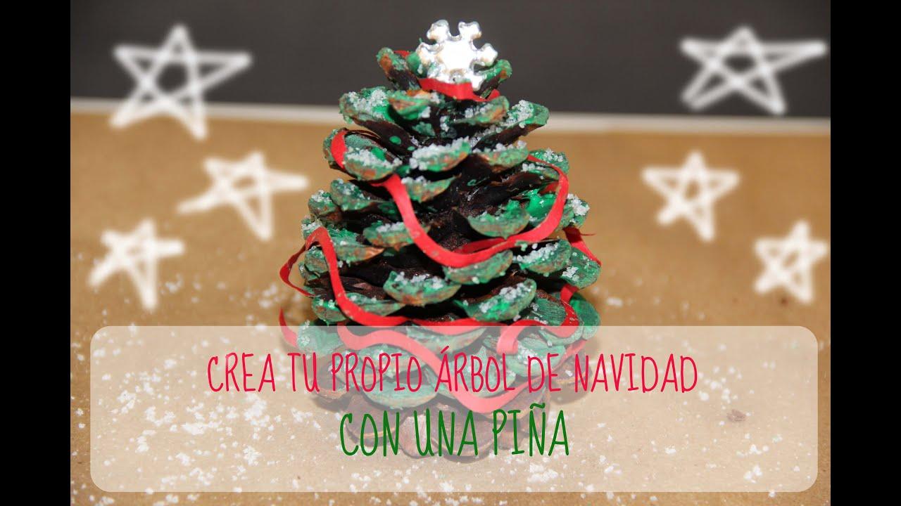 Diy crea tu propio rbol de navidad con una pi a christmas tree playwithmepink youtube - Pinas decoradas para navidad ...