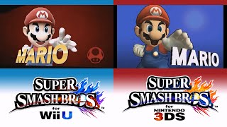 [3DS/Wii U] Super Smash Bros. for Nintendo 3DS / Wii U ♦ Victory Pose (Comparison)