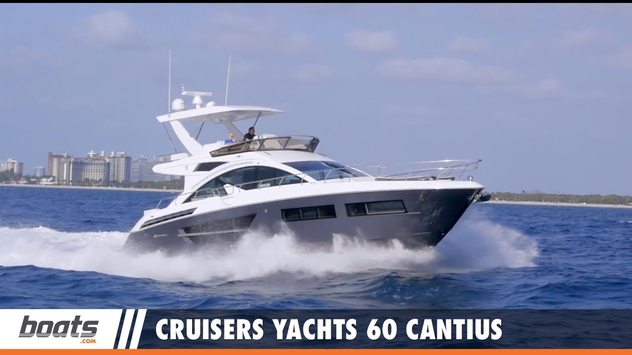 Cruisers Yachts 60 Cantius Fly: Video Boat Review
