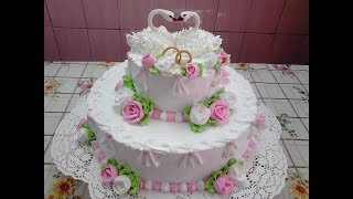 Сборка и украшение свадебного торта