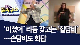 [핫플]'미쳤어' 리듬 갖고논 '할담비'…손담비도 화답 | 김진의 돌직구쇼