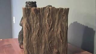 Blonder Black Bear Lodge Tissue Box Cover | Rustic Decor | Bear Decor