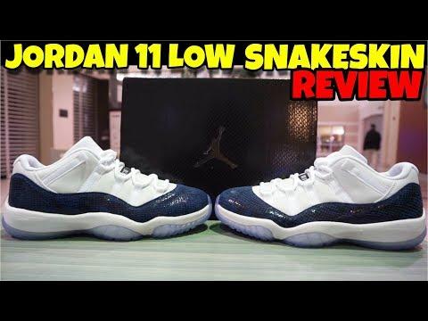 Air Jordan 11 Retro Low 'Navy Snakeskin' Detail Review