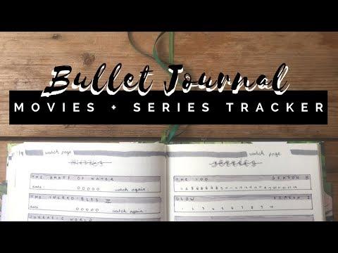 Movies & Series tracker | Simple + Clean Bullet Journal