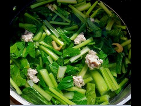 Vietnamese Yu Choy Soup Recipe  Canh Cai Ngot  YouTube