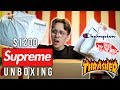 UNBOXING $1200 OF SUPREME feat Champion, Vans, & Thrasher