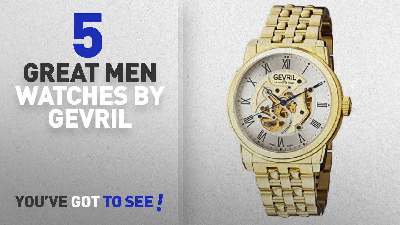 Top 10 Gevril Men Watches [ Winter 2018 ]: Gevril Men's 'Vanderbilt' Swiss Automatic