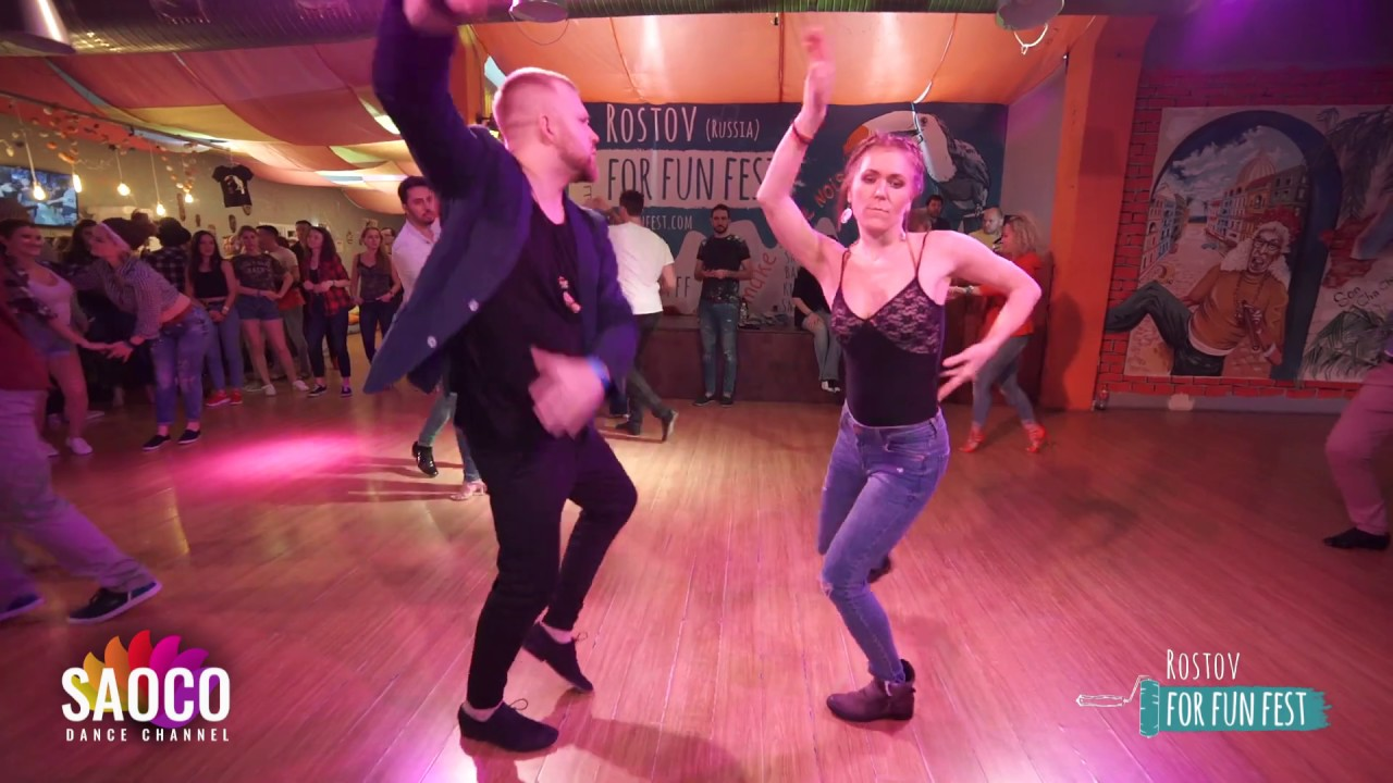 Andrey Bryukhovskikh and Elena Bryleva Salsa Dancing at Rostov For Fun Fest, Monday 04.11.2019 (SC)