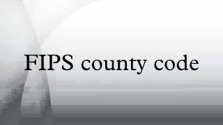 FIPS county code