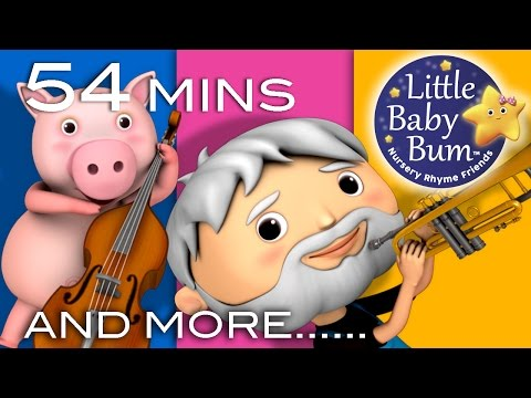 This Old Man He Played One | Plus Lots More Nursery Rhymes | 54 Mins Compilation from LittleBabyBum!