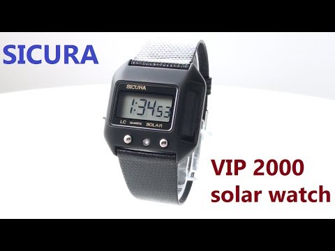 VintageDigitalWatches - Ep 26 - Sicura solar watch VIP2000