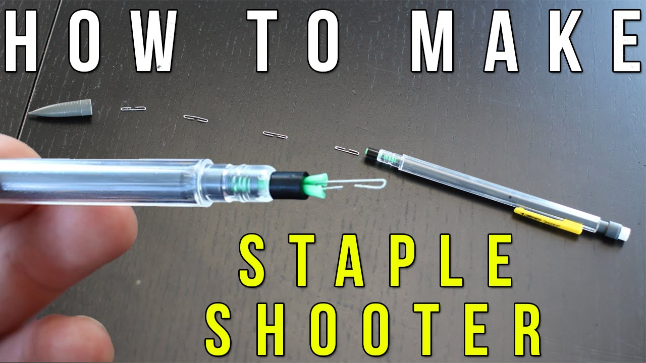 How To Make A Staple Shooter From A Pencil!