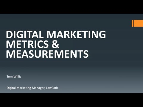 Digital Marketing Metrics and Measurement