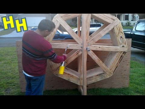 Build A Water Wheel | Making An Old Western Mining Town | Old West Facade