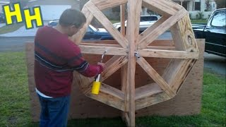 How To Build A Wood Water Wheel For An Old Western Mining Town