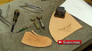 Leather Carving For Beginners Leathercraft Tutorial How To Draw And Transfer Pencil Design