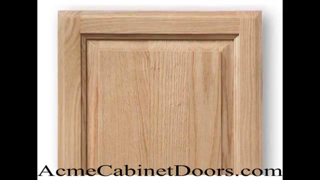 Unfinished Red Oak Raised panel Cabinet Door - YouTube