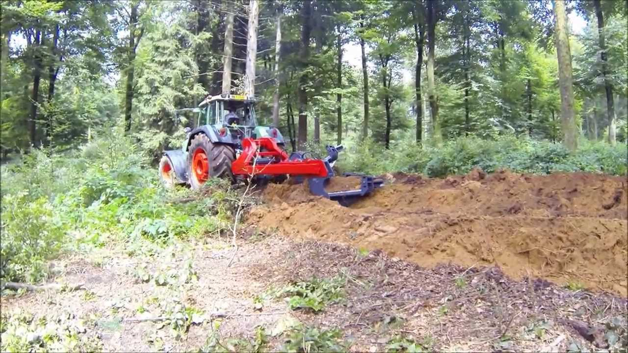 Plow in forest