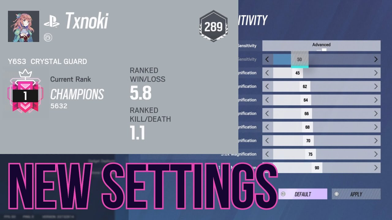 1 BEST CONSOLE SETTINGSSENSITIVITY Ranked Highlights  Rainbow Six Siege PS5 Gameplay