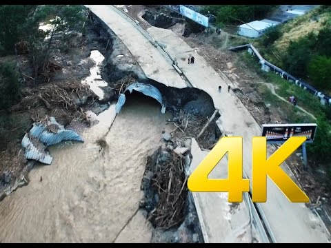 Disaster in Tbilisi,Vere valley flood ,4K aerial video footage DJI Inspire 1 Наводнение в Тбилиси