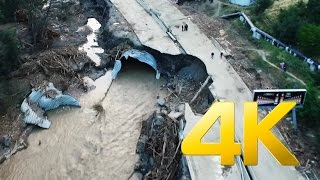 Disaster in Tbilisi,Vere valley flood ,4K aerial video footage DJI Inspire 1 Наводнение в Тбилиси