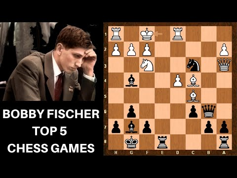 Top 5 Bobby Fischer Chess Games of all time