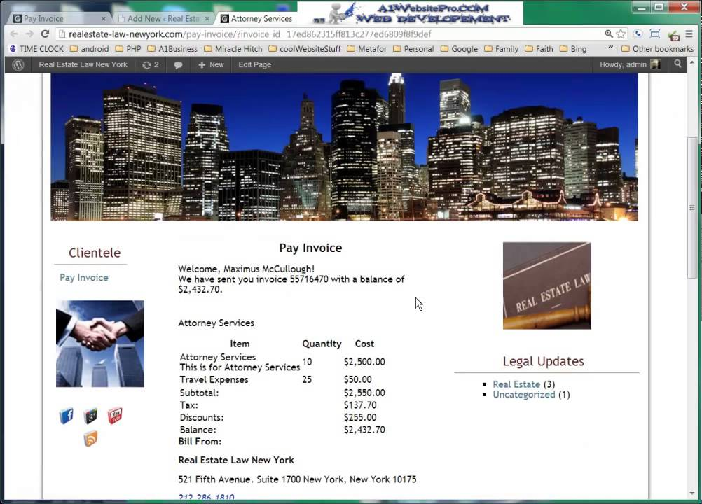 Ebay Invoice Software Wordpress Web Invoicing And Billing  Youtube Invoice Template To Download with Invoice Car Prices Wordpress Web Invoicing And Billing Vehicle Sale Receipt