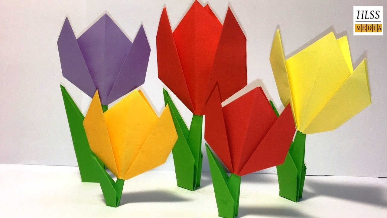 Create Springtime Art with Simple Origami Tulips | Make and Takes | 720x1280