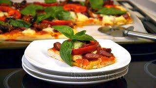 Пицца на тонком дрожжевом тесте | Тесто для пиццы в хлебопечке