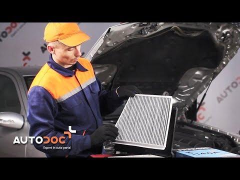 Kaip pakeisti salono filtras MERCEDES-BENZ E W211 PAMOKA | AUTODOC