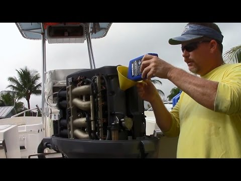 DIY, how to change the oil in a 4 stroke outboard, in this case a Yamaha F115 100 hour service
