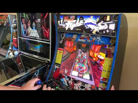 Pinball FX3 Running on modified Arcade1up powered by Nintendo Switch from Kelsalls Arcade