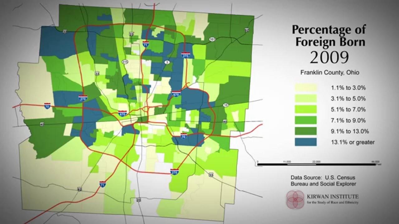 Columbus Ohio Population Change Percentage Of Foreign Born YouTube - Us census bureau ohio counties