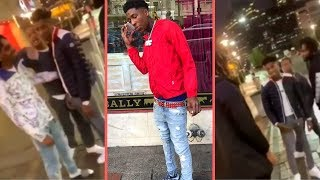 NBA YoungBoy Laughs At Man Yelling At Him Outside Of Store and Stares (YB Reaction Is Priceless)