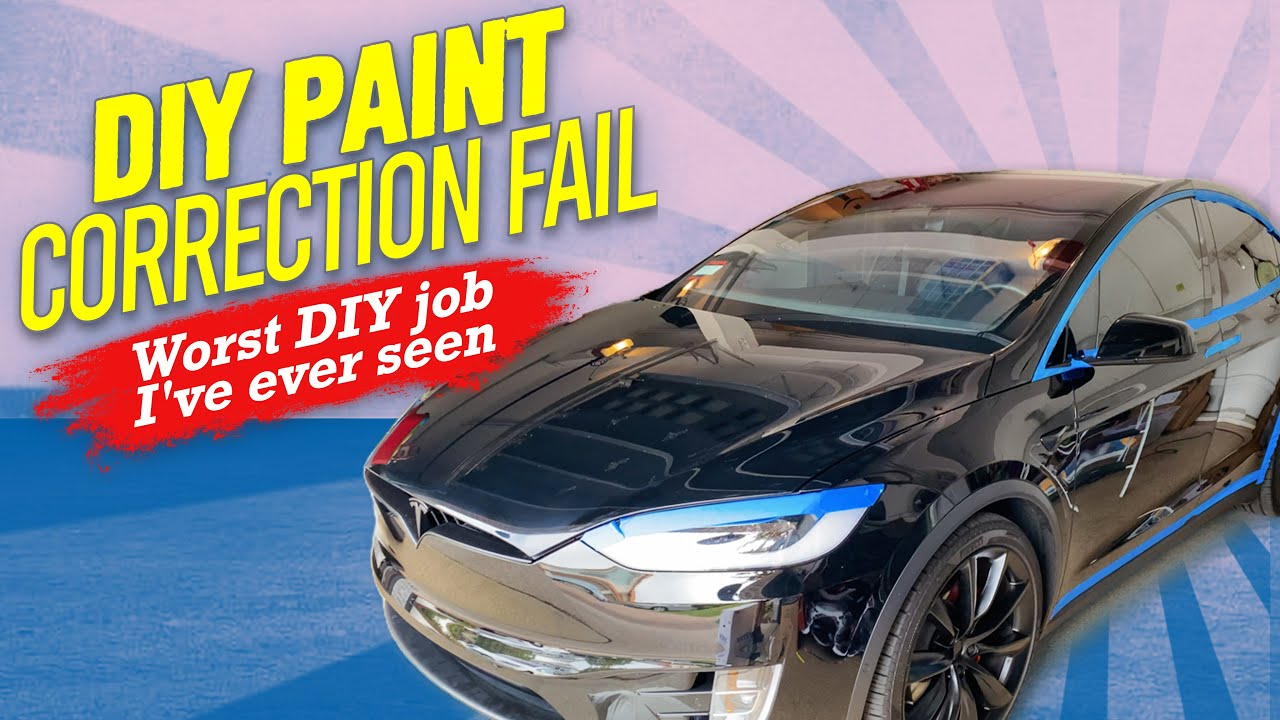 WORST DIY DETAIL FAIL | TESLA MODEL X PAINT RUINED