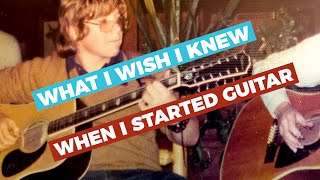 TOP 3 THINGS I WISH I KNEW when I Started PlayingGuitar — Guitar Care, Rhythm v. Lead, Using a Capo