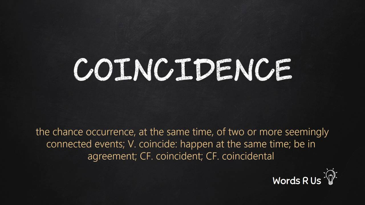 How to Pronounce COINCIDENCE in American English