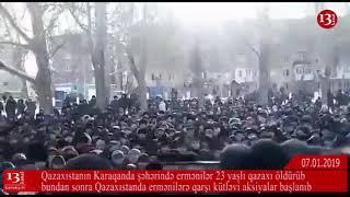 МИТИНГ КАЗАХОВ ПРОТИВ АРМЯН Настоящие причины столкновений в Караганде