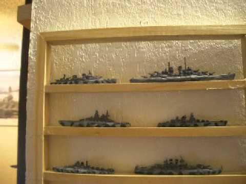 Miniature U.S. Navy Ships - Pacific Fleet - Okinawa Invasion Fleet