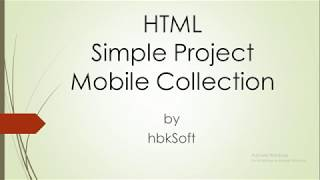 HTML Project - Simple Mobile Store Website 01